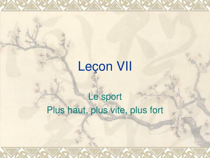 Le on vii