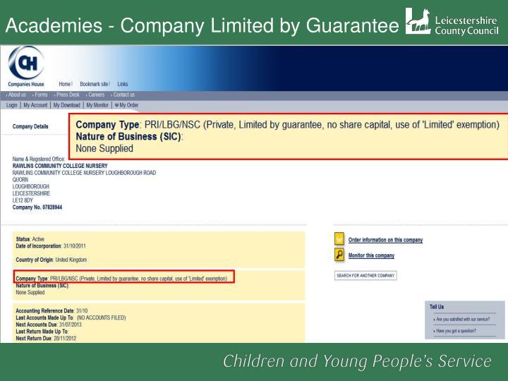 - Company Limited by Guarantee