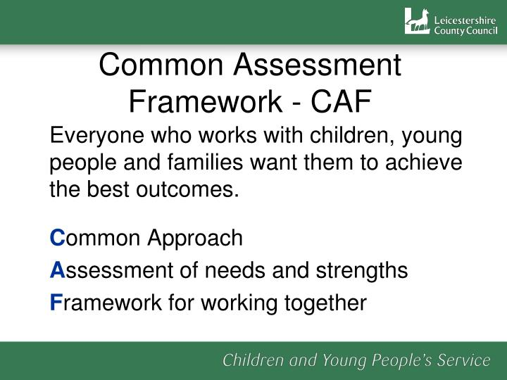 Common assessment framework caf