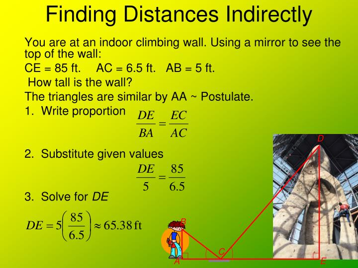 Finding Distances Indirectly