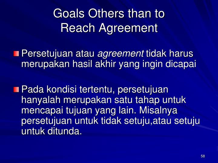 Goals Others than to