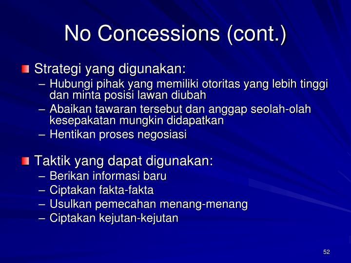 No Concessions (cont.)