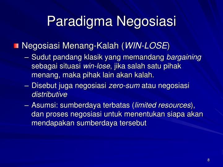 Paradigma Negosiasi