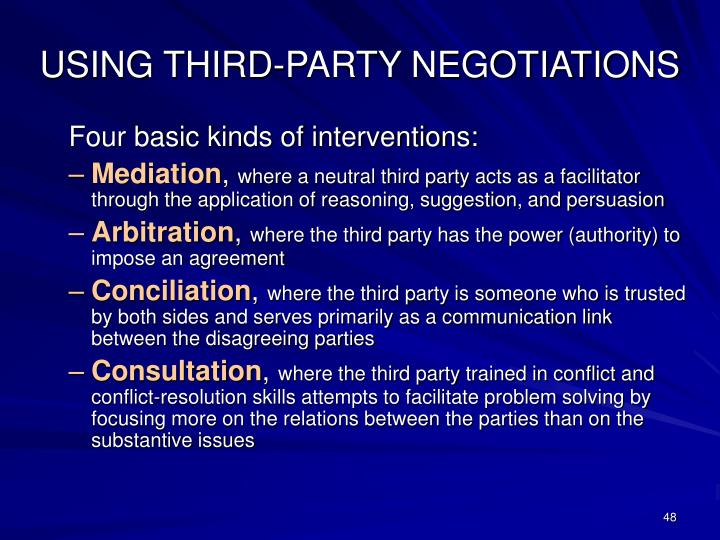 USING THIRD-PARTY NEGOTIATIONS