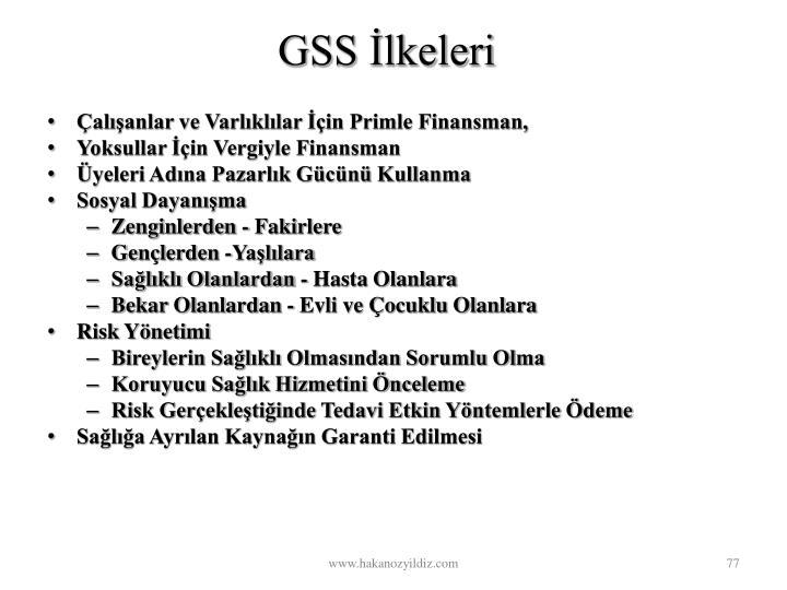 GSS lkeleri