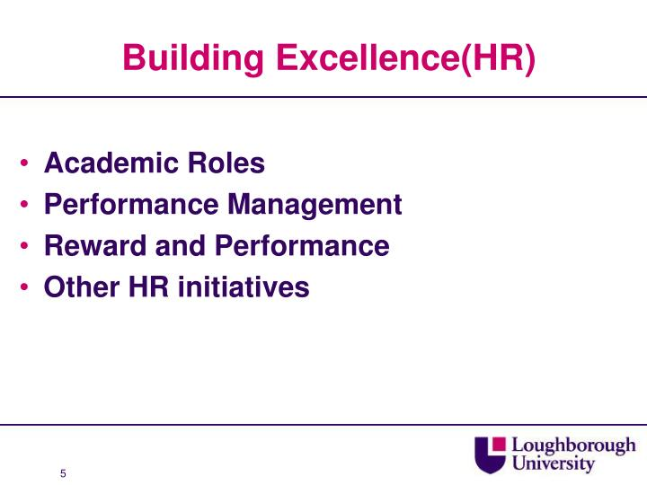 Building Excellence(HR)