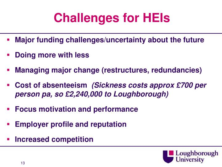 Challenges for HEIs