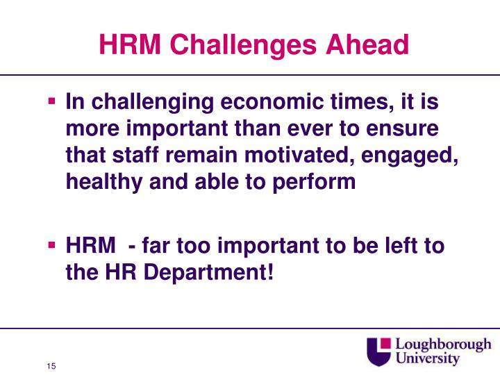 HRM Challenges Ahead