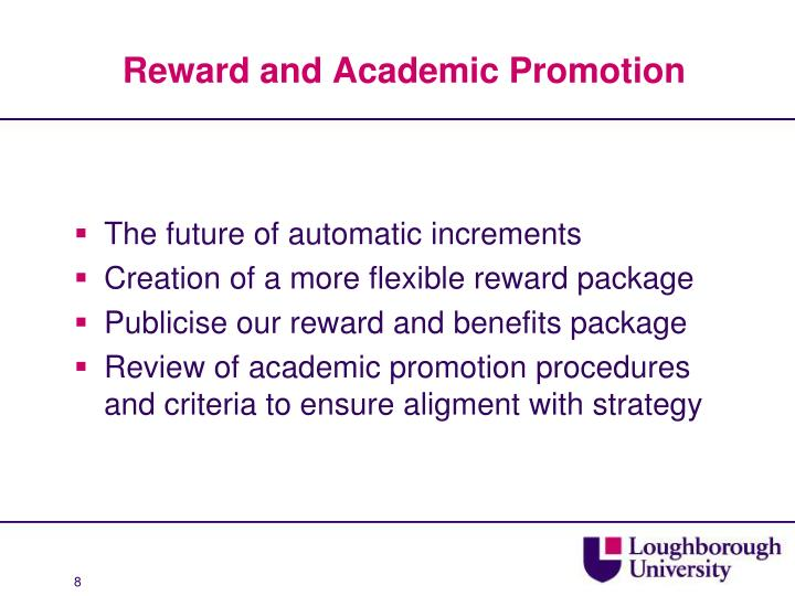 Reward and Academic Promotion