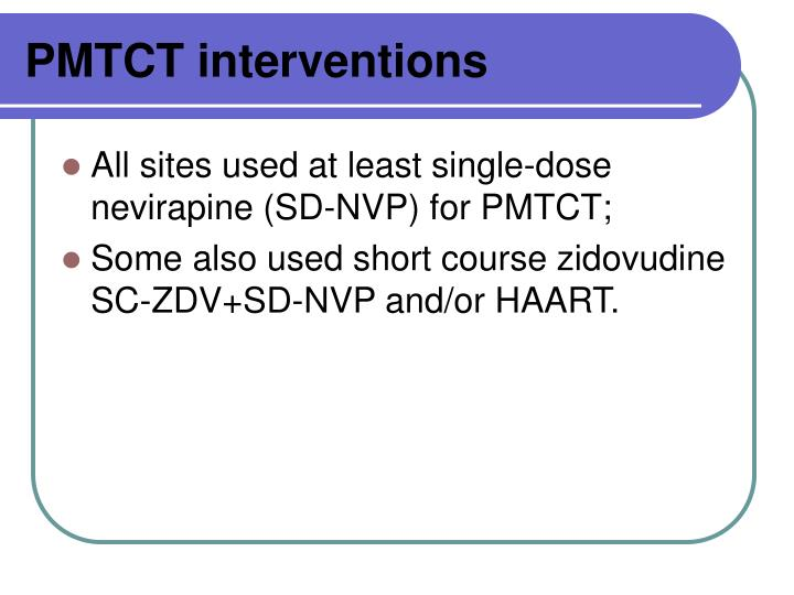 PMTCT interventions