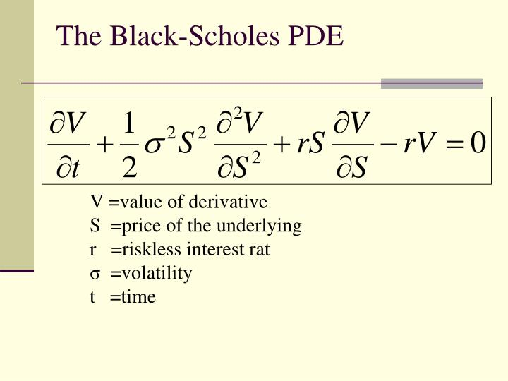 The Black-Scholes PDE