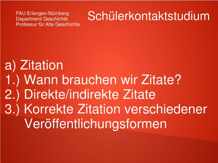 a) Zitation
