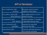 api of serializer