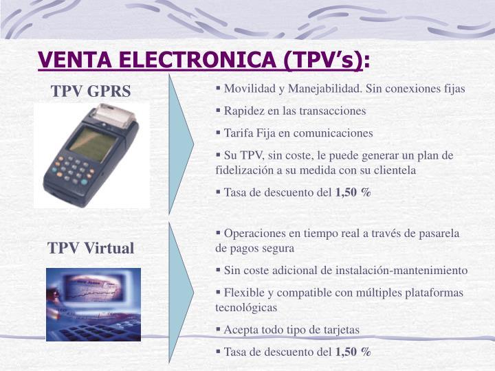 VENTA ELECTRONICA (TPV's)
