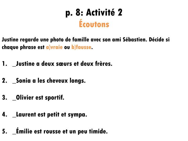 p. 8: Activité 2