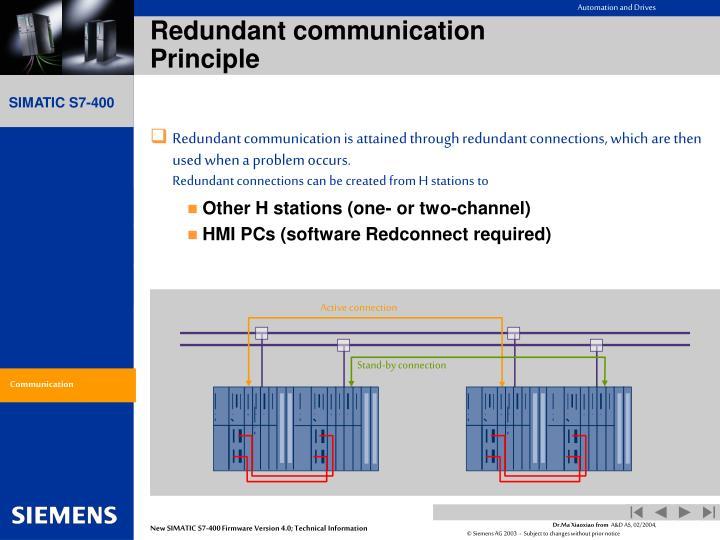 Redundant communication