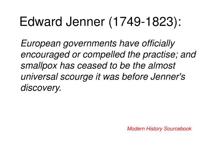 Edward Jenner (1749-1823):