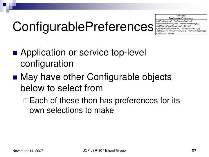 ConfigurablePreferences
