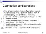connection configurations