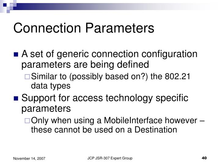 Connection Parameters