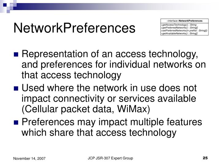NetworkPreferences