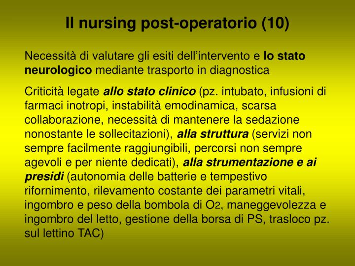 Il nursing post-operatorio (10)