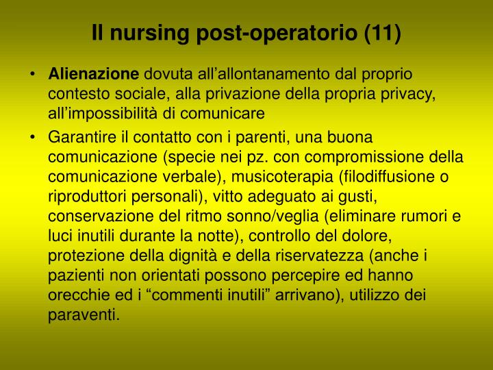 Il nursing post-operatorio (11)