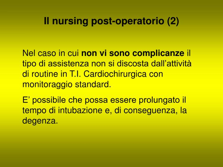 Il nursing post-operatorio (2)