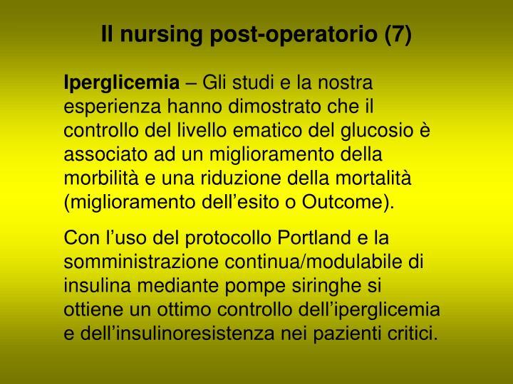 Il nursing post-operatorio (7)