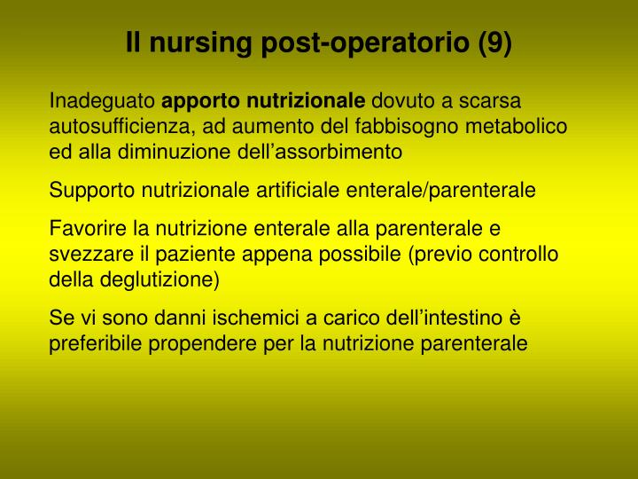 Il nursing post-operatorio (9)