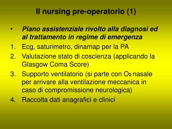 Il nursing pre-operatorio (1)