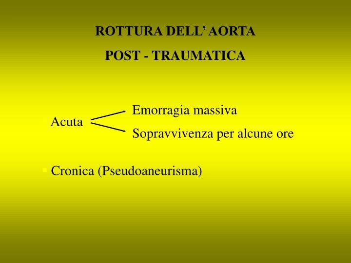 ROTTURA DELL' AORTA