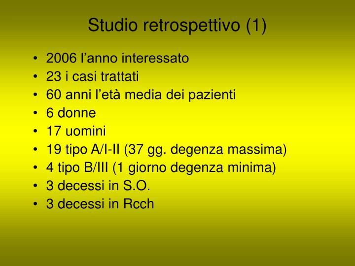 Studio retrospettivo (1)