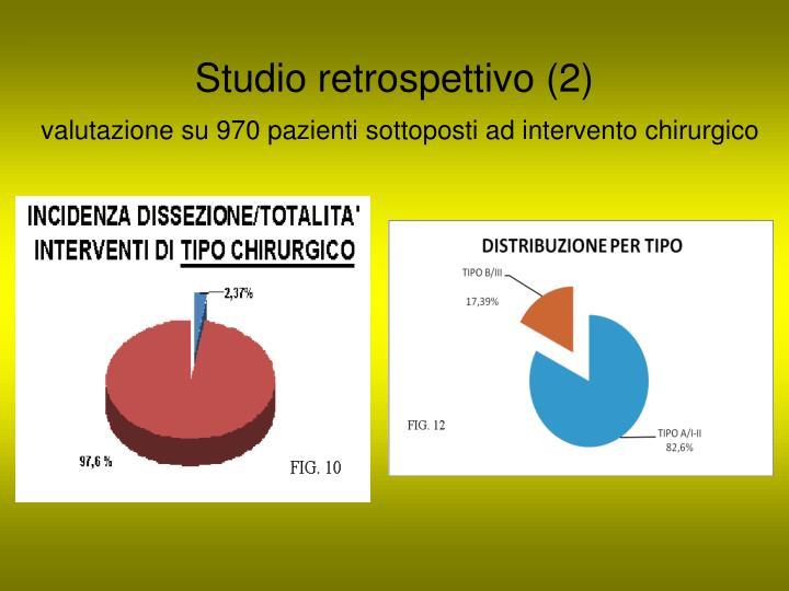 Studio retrospettivo (2)