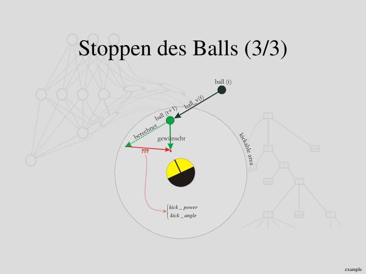 Stoppen des Balls (3/3)