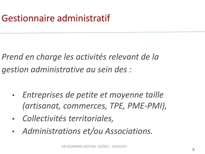 Gestionnaire administratif
