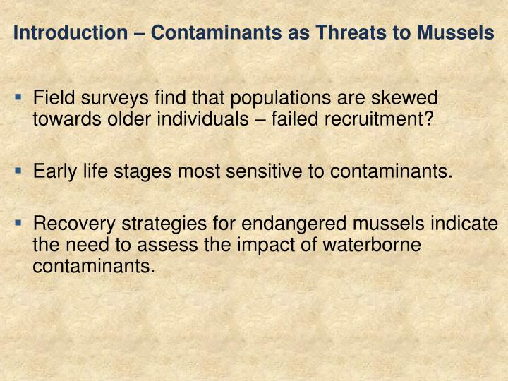 Introduction – Contaminants as Threats to Mussels