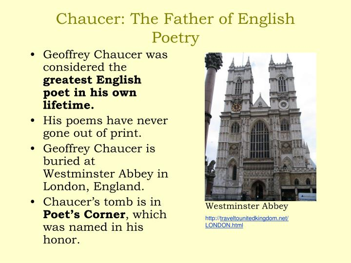 Chaucer as a father of english