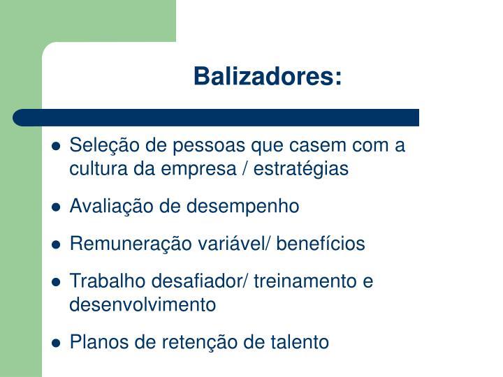 Balizadores: