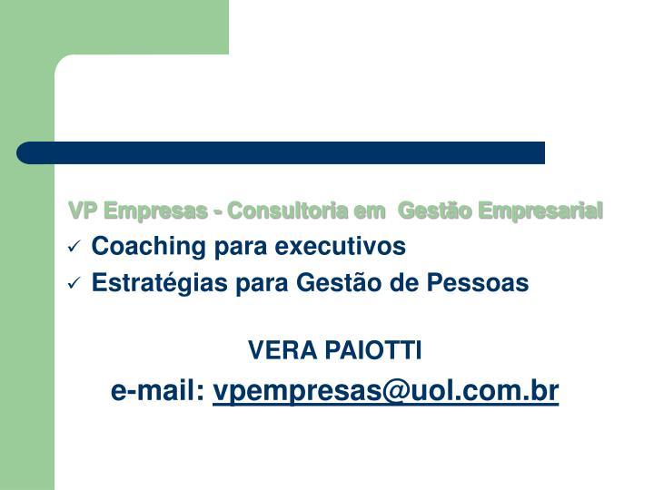 VP Empresas - Consultoria em  Gestão Empresarial