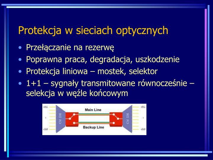 Protekcja w sieciach optycznych