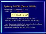 systemy dwdm dense wdm