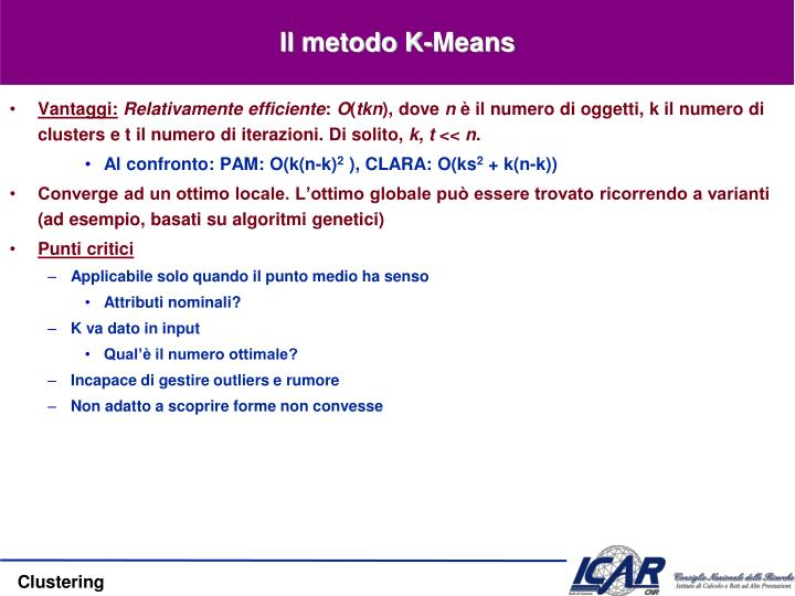 Il metodo K-Means