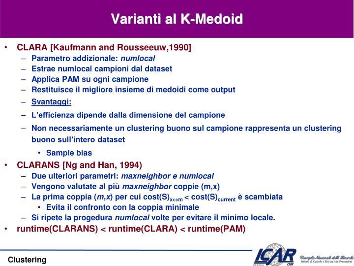Varianti al K-Medoid