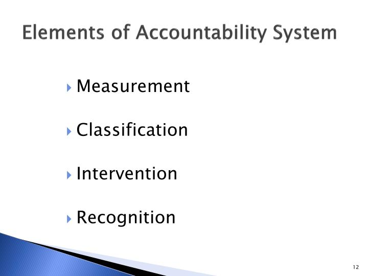 Elements of Accountability System