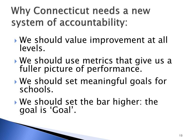 Why Connecticut needs a new system of accountability: