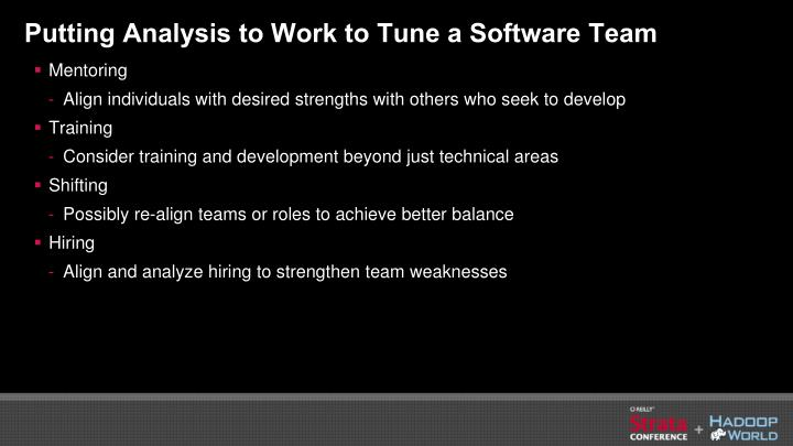 Putting Analysis to Work to Tune a Software Team