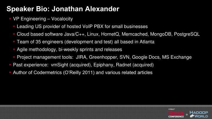 Speaker Bio: Jonathan Alexander