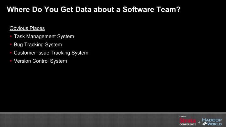 Where Do You Get Data about a Software Team?