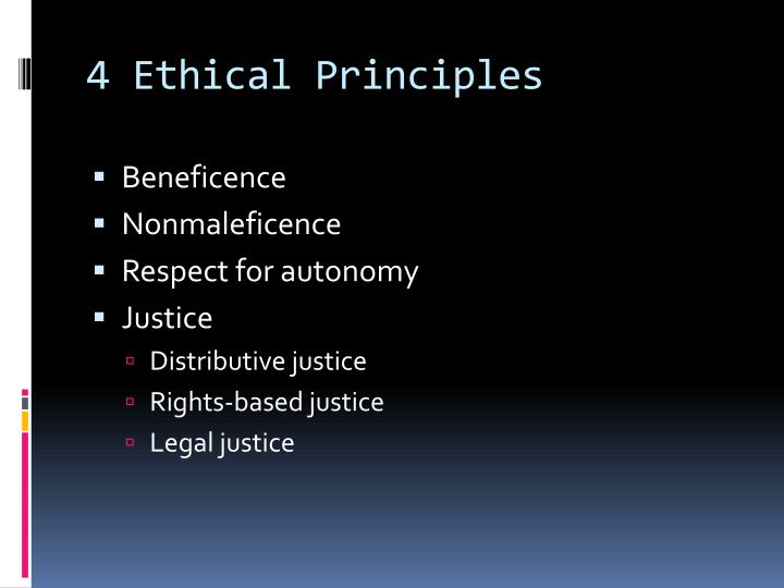 4 Ethical Principles